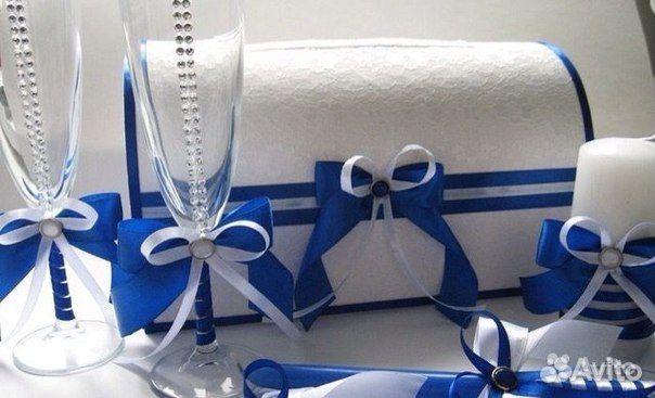 Семейный банк на свадьбу в синем цвете