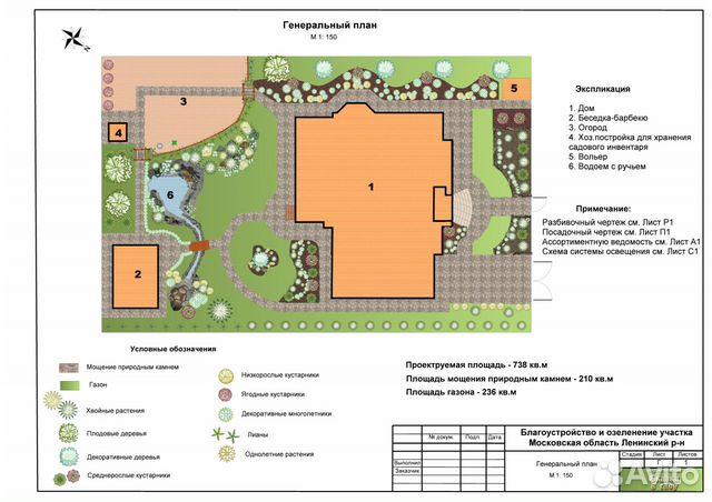Дизайн участка многоквартирного дома