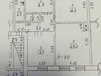3-к квартира, 78 м², 1/2 эт.