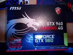 Видеокарта MSI GeForce GTX 960 gaming 4G