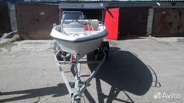 Лодка terhi + мотор suzuki DF50A + прицеп + гараж купить 4