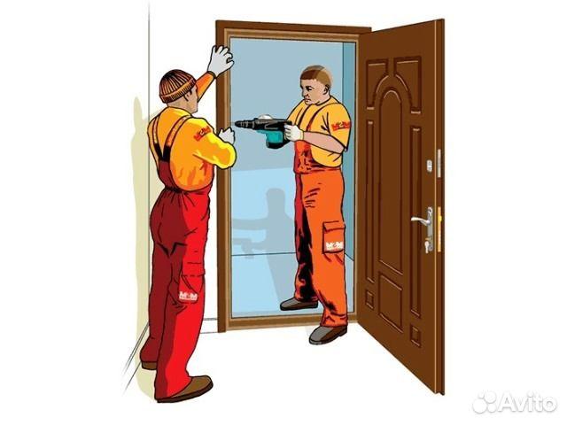 установит входную дверь