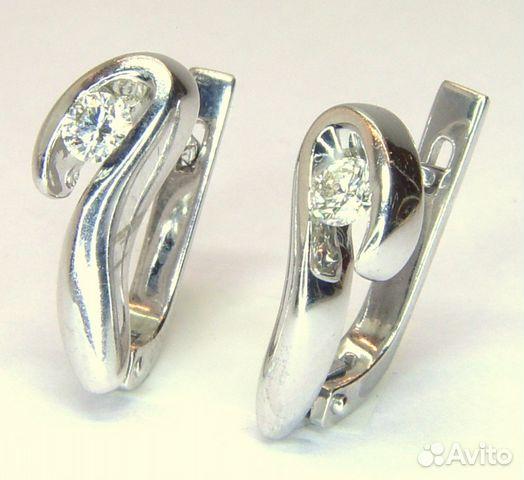 643a05c04539 Серьги с бриллиантами из белого золота 585 пробы   Festima.Ru ...