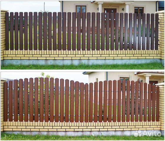 Материалы для штакетника ворота обшивка профнастил отзывы