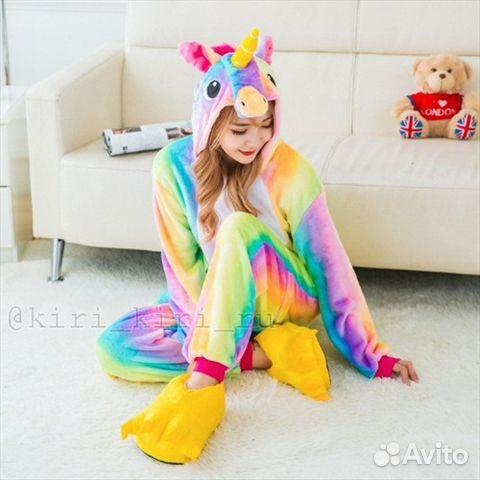 Пижама кигуруми Радужного Единорога купить в Самарской области на ... f6f80dd72b9f7
