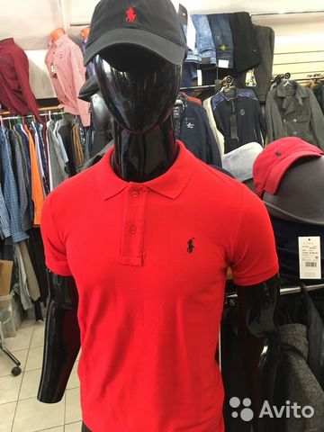 Поло футболка Ralph Lauren Polo новая.Красная   Festima.Ru ... 5aa3496ad3e