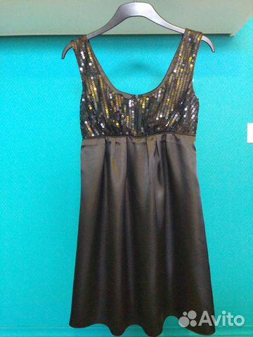b62d3cb1f3c Маленькое черное платье атласное купить в Московской области на ...