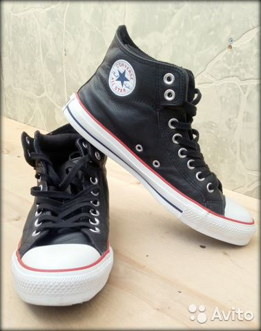 Кожаные кеды Converse All Star High e34b119bbceb4