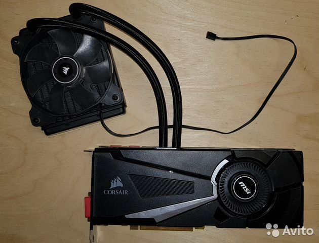 Видеокарта MSI GeForce GTX 1070 SEA hawk X 8Gb