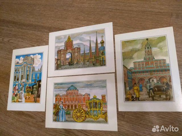 Набор открыток москва и москвичи