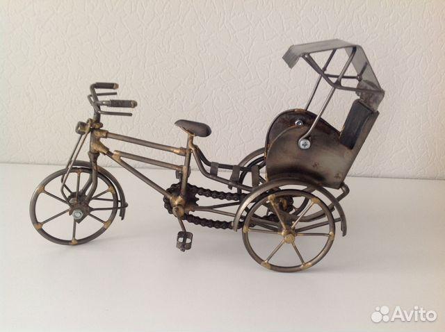 Модель велорикши, рикша металл купить 1