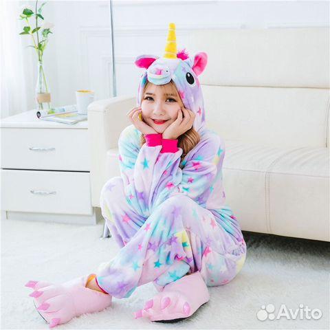 Пижама Кигуруми Единороги купить в Москве на Avito — Объявления на ... 7818534400df7