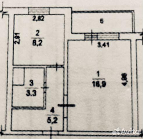 Продается однокомнатная квартира за 4 000 000 рублей. Московская обл, г Лобня, проезд Шадунца, д 5 к 2.