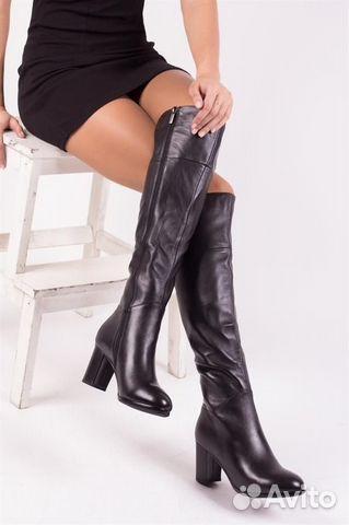 Новые зимние кожаные сапоги р.36 купить 1