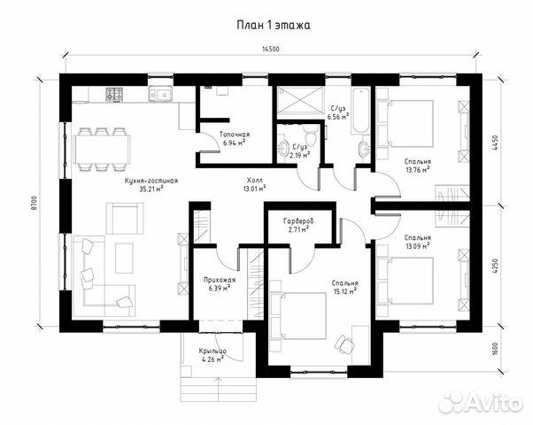 Дом 119 м² на участке 7.5 сот.