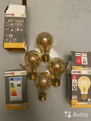 Лампа накаливания (ретро лампочки)