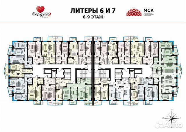 1-к квартира, 39.6 м², 24/25 эт. купить 6