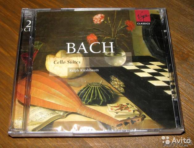 Bach cello suites 2cd. Ralph Kirshbaum(Virgin 2003