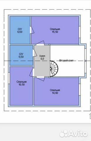 Коттедж 128 м² на участке 10 сот.  89201150483 купить 5