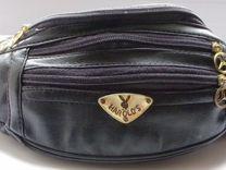 Новая чёрная поясная сумка из 90-х