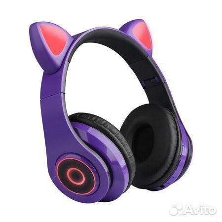 Новые Светящиеся беспроводные наушники Cat Ear