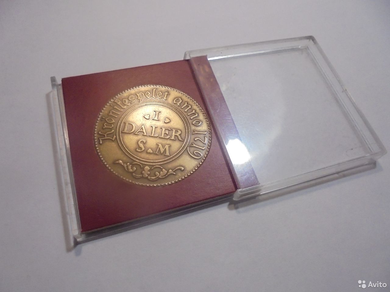 Швеция медный жетон 1 далер 1719 года  89105009779 купить 1
