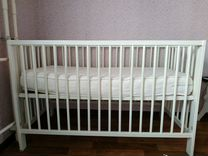 Кроватка детская икеа +матрас