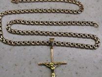 Золотая цепочка с крестом