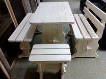 Скамейка стол лавка со спинкой табурет