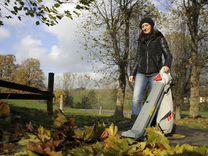 Садовый пылесос-воздуходувка для листьев