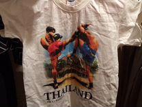 Новая Футболка с рисунком тайский бокс