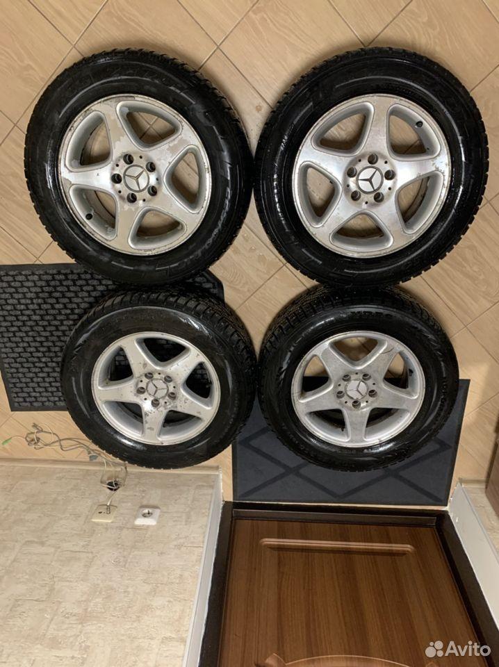 Диски + 2 резины(шипы) R16 Mercedes Benz  89231102244 купить 1