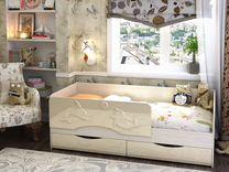 """Кровать """"Алиса"""" + матрас цвет на выбор"""