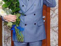 Торжественный свадебный двубортный мужской костюм