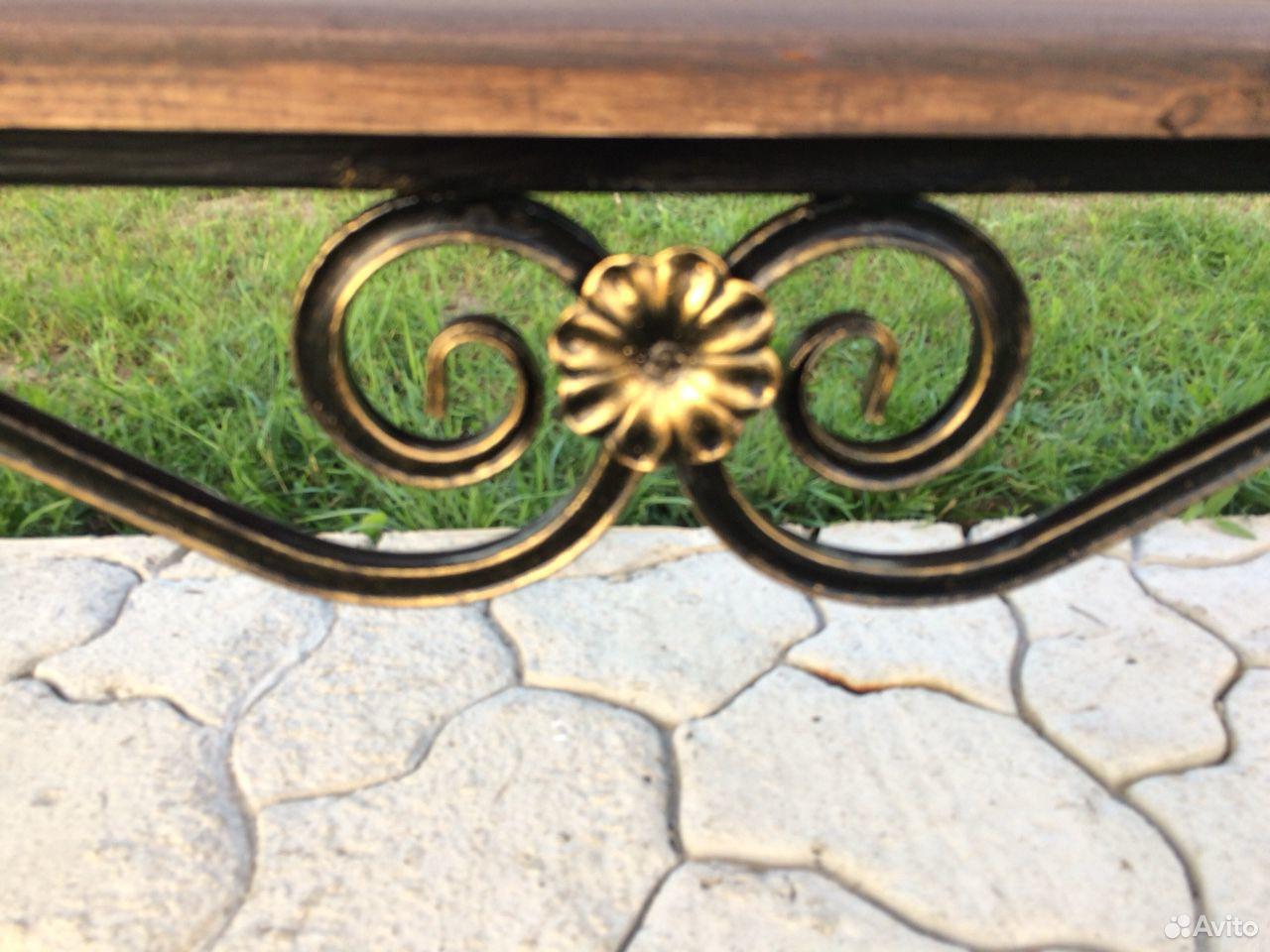 Скамейка садовая лавочка с элементами ковки  89231448101 купить 3
